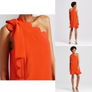 NWT Victoria Beckham sz S scallop bow dress 🍊